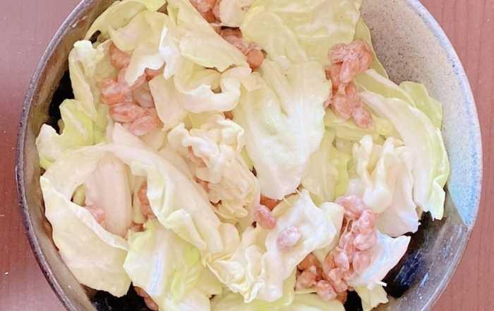 【腸活】キャベツ納豆サラダ