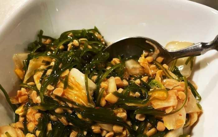 キムチ納豆サラダ (1)