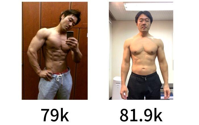 体重と見た目は比例しない