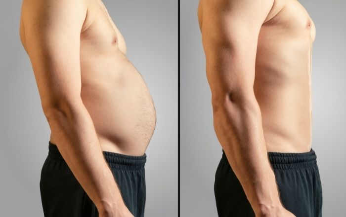 脂肪と筋肉は体積、重さがちがう